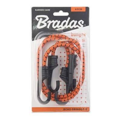 Резиновый шнур с крючками, 2 х 60см, PVC BUNGEE  CORD HOOK, BCH2-08060OR-B