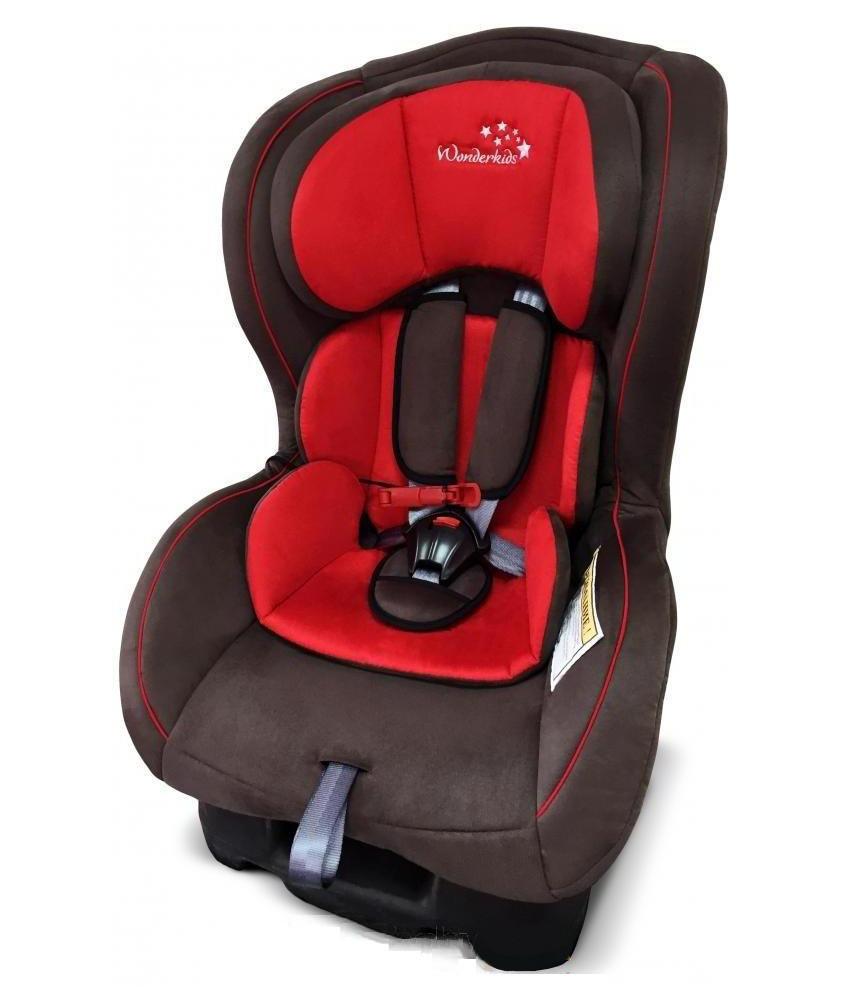 Дитяче автокрісло до 18 кг Wonderkids CROWN SAFE Червоно-коричневе (Крісло дитяче для машини)