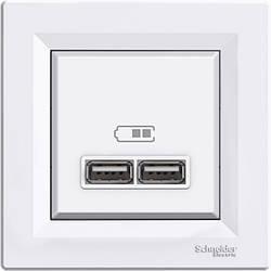 Розетка Schneider-Electric Asfora USB біла (EPH2700221)