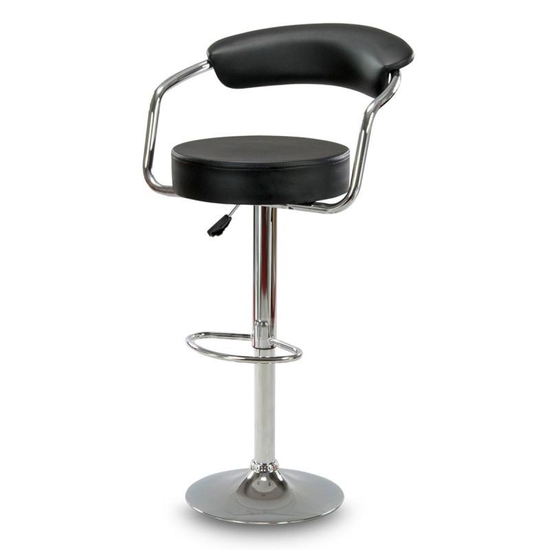 Барний стілець Hoker VIGO з регулюванням висоти і підставкою для ніг Чорний
