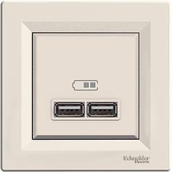 Розетка Schneider-Electric Asfora USB кремовий (EPH2700223)