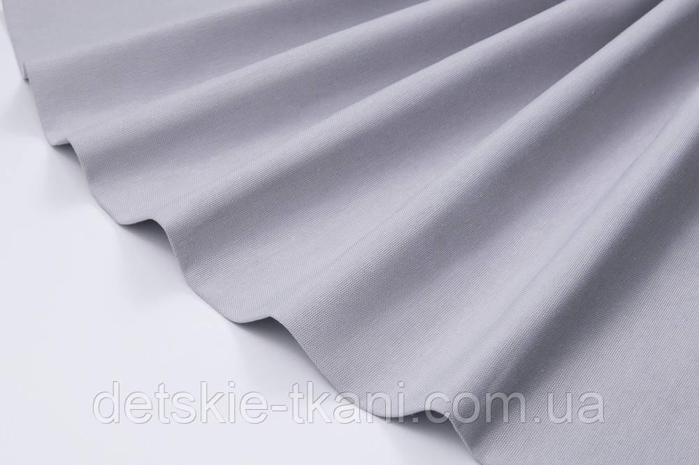 Лоскут однотонной ткани Duck жемчужно-серого цвета 50*45 см