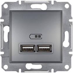 Розетка Schneider-Electric Asfora Plus USB сталь (EPH2700262)
