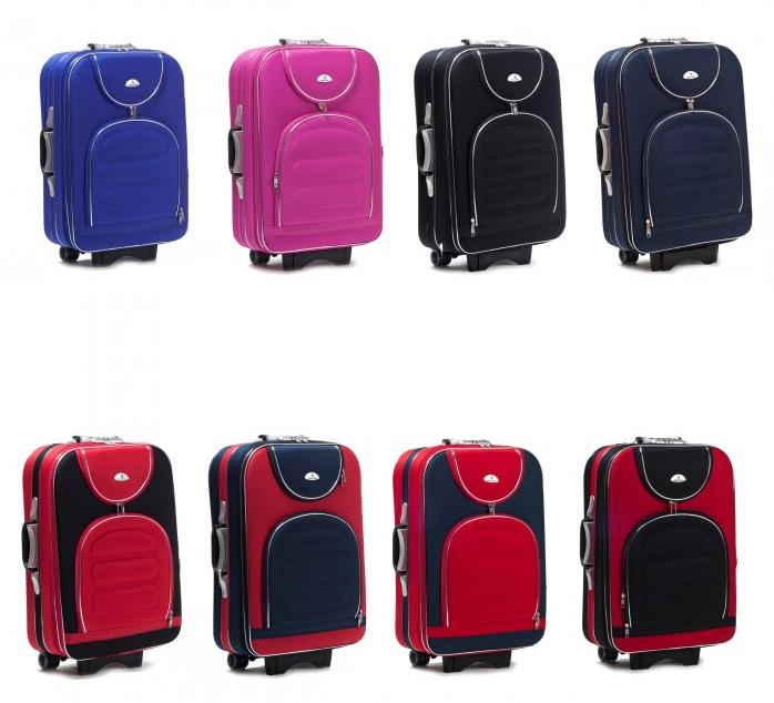 Дорожній валізу на колесах SUITCASE 801 з висувною ручкою матеріал Codura Середній