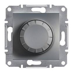 Диммер Schneider-Electric Asfora Plus поворотний з підсвічуванням сталь (EPH6500162)