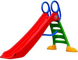 Дитяча ігрова гірка пластикова Mochtoys 2 метри зі сходами (гірка спуск)