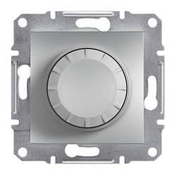 Диммер Schneider-Electric Asfora Plus поворотний з підсвічуванням алюміній (EPH6500161)