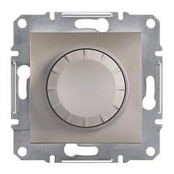 Диммер Schneider-Electric Asfora Plus поворотний з підсвічуванням бронза (EPH6500169)