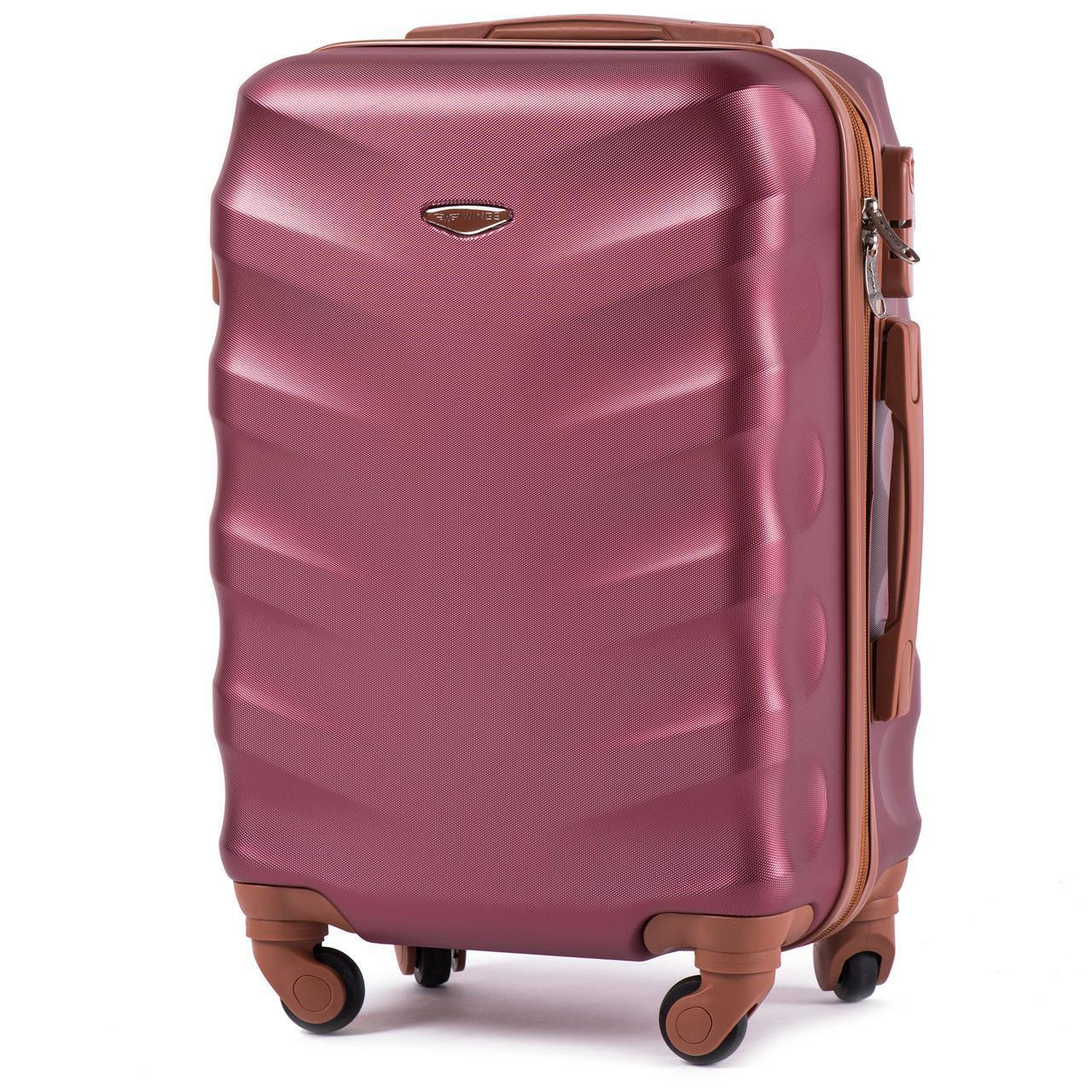 Дорожный чемодан на колесах WINGS 402 Exlusive из поликарбоната ручная кладь