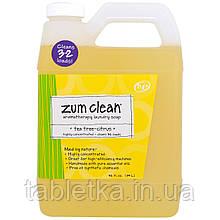 Indigo Wild, Zum Clean, ароматерапевтическое хозяйственное мыло, чайное дерево и цитрус, 0,94 л (32 жидких