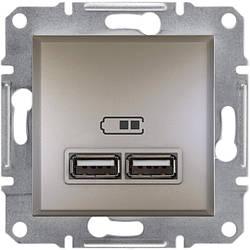 Розетка Schneider-Electric Asfora Plus USB бронза (EPH2700269)