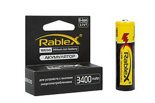 Аккумулятор Rablex 18650-3400mAh, 3.7v, Li-Ion