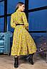 Плаття з пишною спідницею бантом і рюшами з 42 по 48 розмір, фото 4