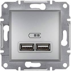 Розетка Schneider-Electric Asfora Plus USB алюміній (EPH2700261)