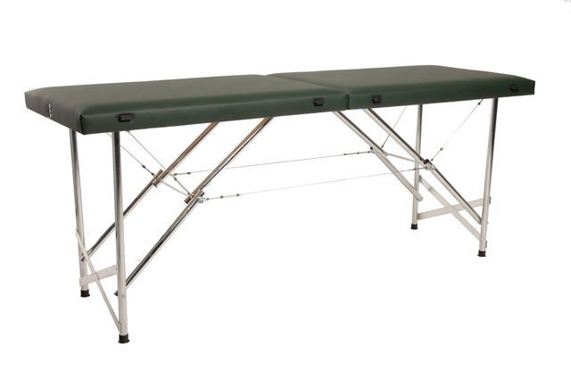 """Масажний стіл кушетка """"Стандарт"""" Складаний для косметологічних і масажних процедур Зелений"""