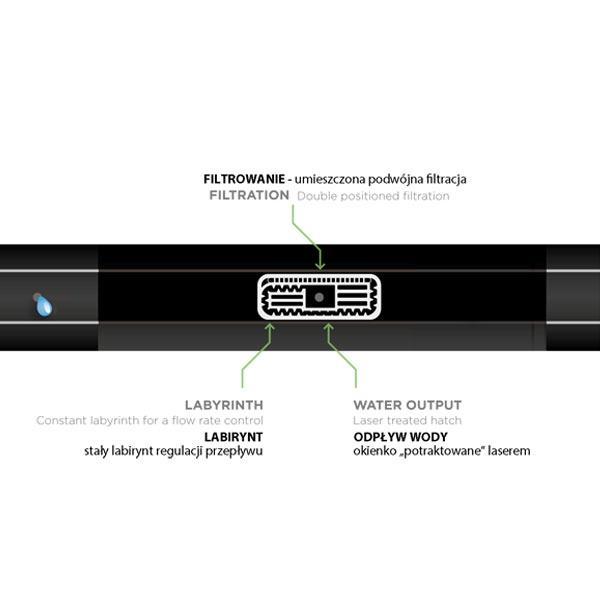 Крапельна стрічка Ø 16 мм, 8 mil (0.2 мм), 30см, 1,1 л/год, HIRRO DRIP, DSTHD 16081130-0500
