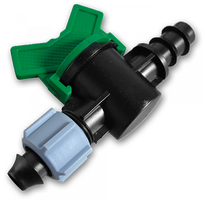Старт-Коннектор для трубки з затискною гайкою та миникраном, DSWZ14-16L