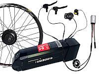 Электровелонабор з герметичними роз'ємами 350Вт 36Вольт LED-900 на переднє колесо, Акумулятор 10.4, фото 1