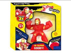 Іграшка «Залізна Людина» Goo Jit Zu, тягучка-антистрес