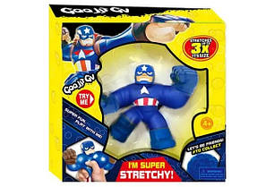 Іграшка «Капітан Америка» Goo Jit Zu, тягучка-антистрес