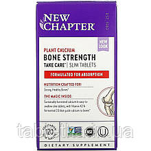 New Chapter, Bone Strength Take Care, 120 тонких вегетарианских таблеток