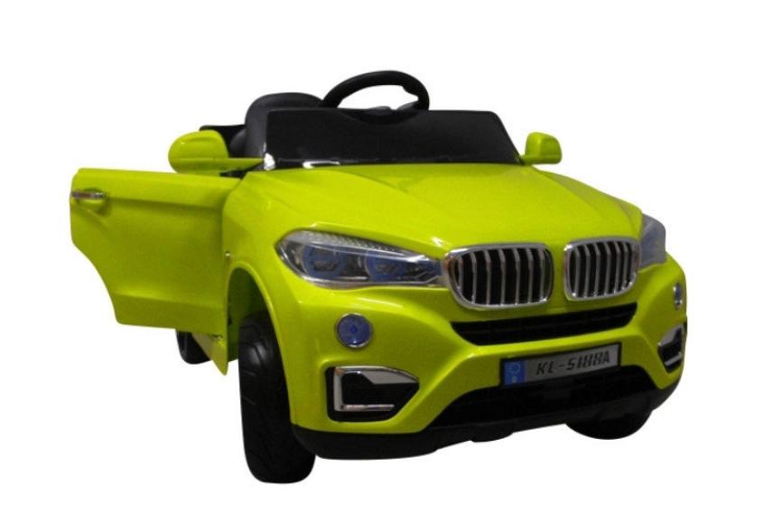 Детский электромобиль на аккумуляторе Cabrio B12 EVA зелёный с пультом управления и музыкой (MP3)