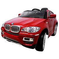 Детский электромобиль на аккумуляторе BMW X6 EVA с пультом управления и музыкой Красный, фото 1