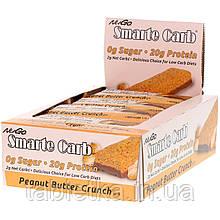 NuGo Nutrition, Smarte Carb Bar, Peanut Butter Crunch, 12 Bars, 1.76 oz (50 g) Each
