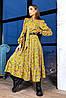 Плаття з пишною спідницею бантом і рюшами з 42 по 48 розмір, фото 7