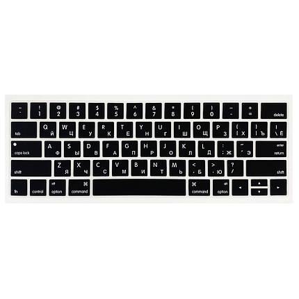 "Накладка на клавиатуру Touch Bar для MacBook Pro 13""/15"" (2016-2019) black с рус. буквами, амер.р-ка, фото 2"