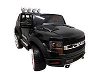 Дитячий електромобіль на акумуляторі Cabrio LONG EVA чорний, з пультом управління і музикою (MP3), фото 1