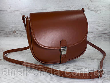 174 Сумка женская из натуральной кожи рыжая сумочка кросс-боди рыжая кожаная сумка женская через плечо