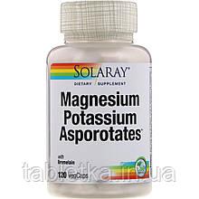 Solaray, Magnesium Potassium Asporotates, аспартат магния и калия, 120растительных капсул