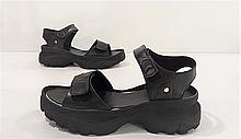 Женские босоножки кожаные Karmen черные 453051