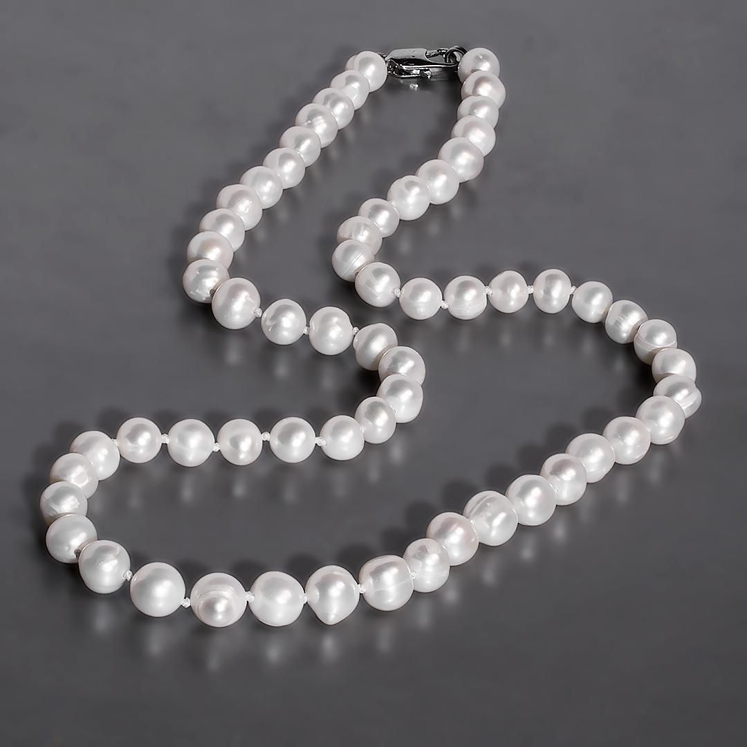 Намисто з перлів білого, Ø7 мм., 48 див., 944БСЖ