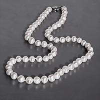 Намисто з перлів білого, Ø7 мм., 48 див., 944БСЖ, фото 1