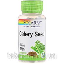 Solaray, Насіння селери, 505 мг, 100 рослинних капсул