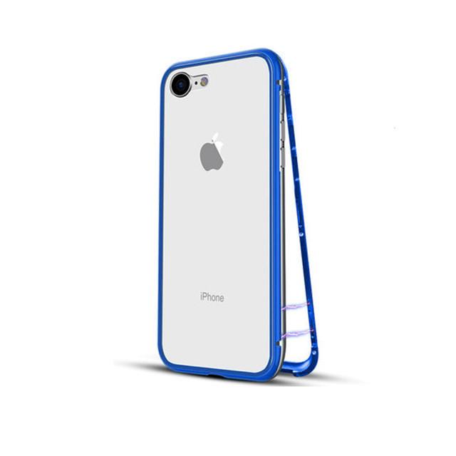 Чехол накладка xCase для iPhone 7/8/SE 2020 Magnetic Case прозрачный синий