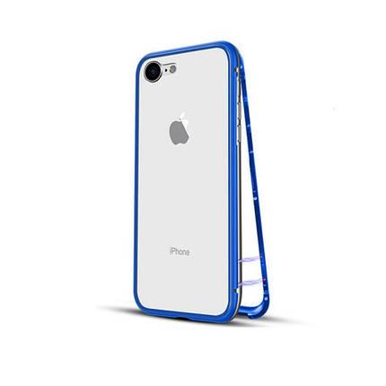 Чехол накладка xCase для iPhone 7/8/SE 2020 Magnetic Case прозрачный синий, фото 2