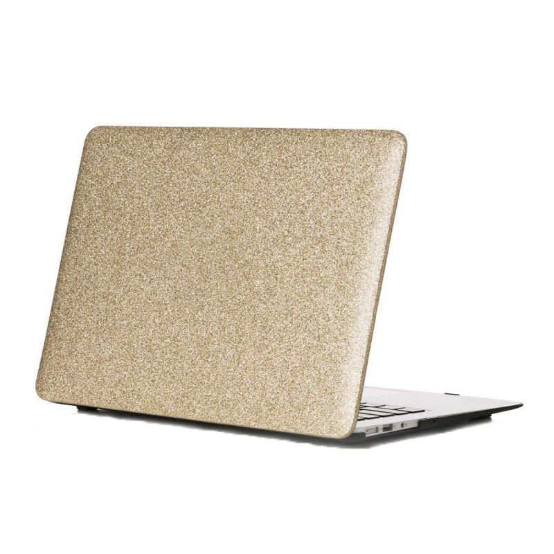 "Чехол накладка DDC пластик для MacBook Air 13"" (2008-2017) picture glitter gold"
