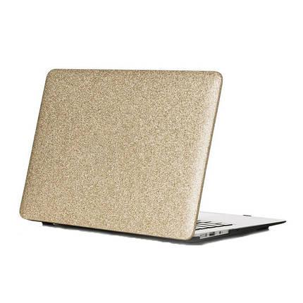 """Чехол накладка DDC пластик для MacBook Air 13"""" (2008-2017) picture glitter gold, фото 2"""