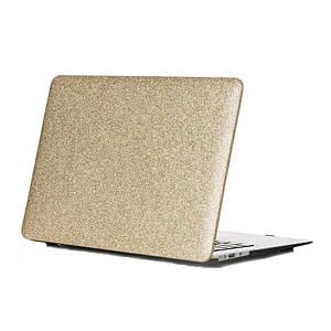 "Чохол накладка DDC пластик для MacBook Air 13"" (2008-2017) picture glitter gold"