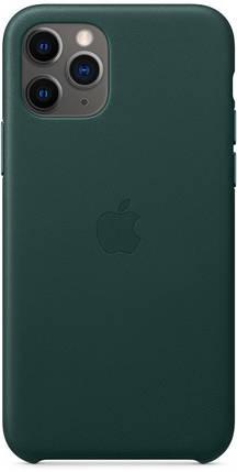 Чехол накладка на iPhone 11 Pro Max Premium good Leather Case forest green, фото 2