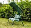 Садовые качели Furnide 3-х местные с козырьком металлические - Фото