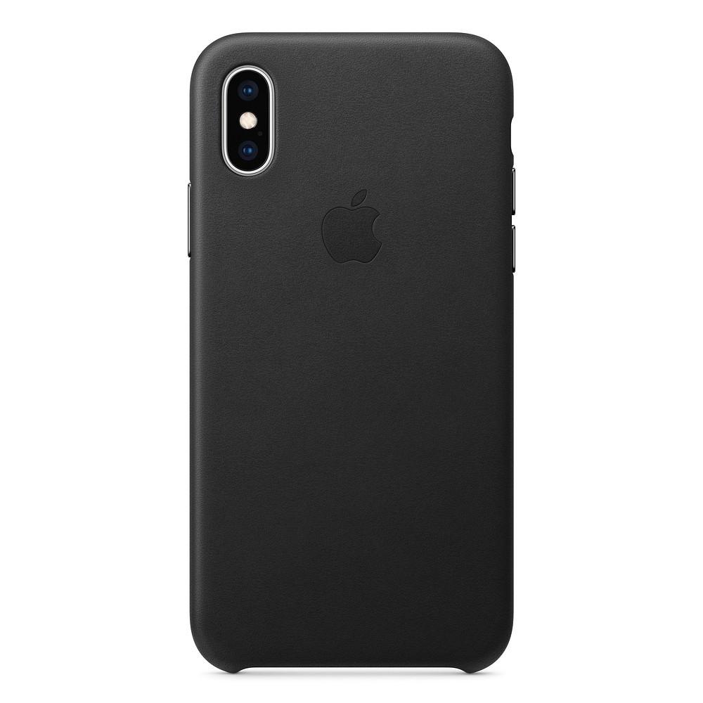 Чехол накладка на iPhone X/XS good Leather Case black