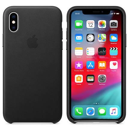 Чехол накладка на iPhone X/XS good Leather Case black, фото 2