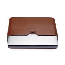 """Папка-конверт PU sleeve bag для MacBook 15"""" black, фото 3"""