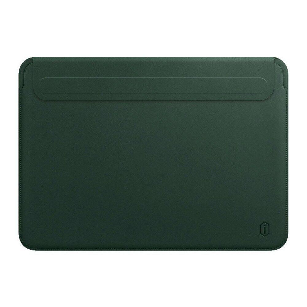 Папка конверт Wiwu Skin Pro2 Leather для MacBook 13,3'' green