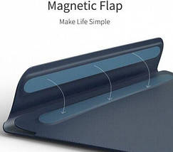 Папка конверт Wiwu Skin Pro2 Leather для MacBook 13,3'' green, фото 2