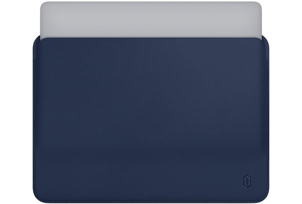 "Папка-конверт Wiwu Skin Pro Leather для MacBook 13"" blue"